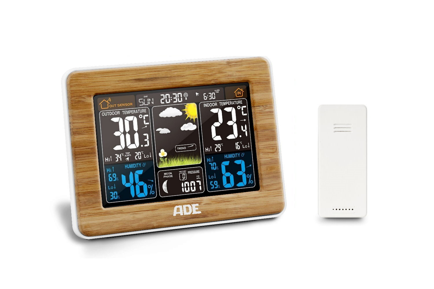Meteostanice ADE WS 1703 bamboo